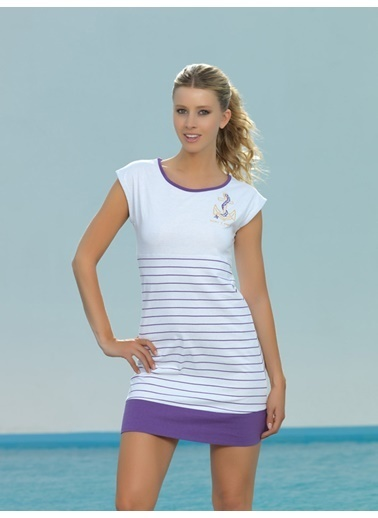 Marc & Andre Plaj Elbisesi Beyaz